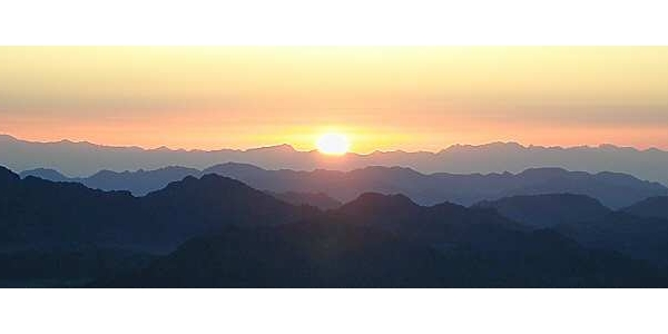 Sunrise from the Top of Mt. Sinai<br>